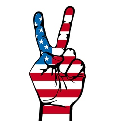 America victory finger t-shirt graphics vector
