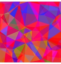 Abstract red blue polygonal background vector