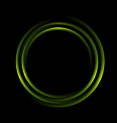 Graphic of abstract green circles vector image