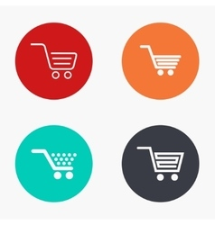 Modern shopping colorful icons set vector