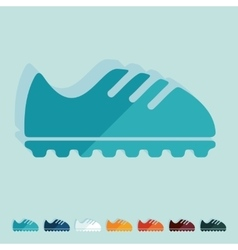 Flat design sneakers vector
