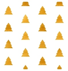Christmas seamless geometric gold textured pattern vector