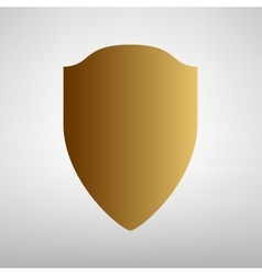 Shield sign flat style icon vector