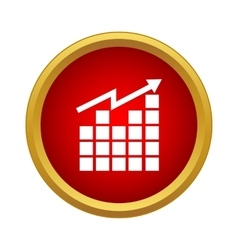 Growing graph icon simple style vector