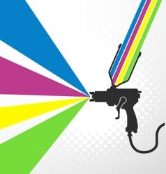 Airbrush or spray gun vector image