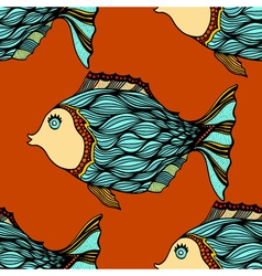 Background of abstract fish vector