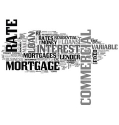 A brief commercial mortgage guide text word cloud vector