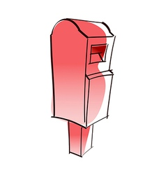 A red postbox vector