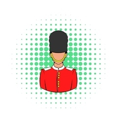A royal guard icon comics style vector