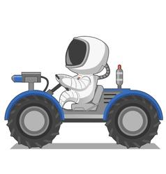 Astronaut on the lunar rover vector