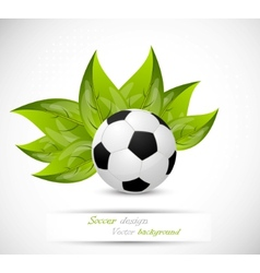 background with ball and leaves vector image vector image