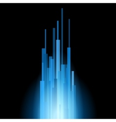 Blue Straight Lines Abstract on Black Background vector image