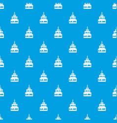 cake pattern seamless blue vector image