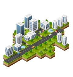 cityscape view of the top vector image vector image
