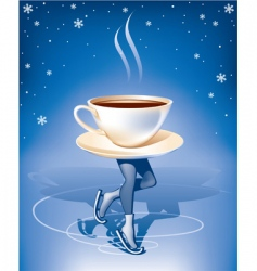 coffee on ice vector image vector image