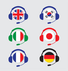 Conversation icons set vector