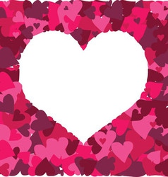 Cute background with a million of hearts vector