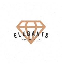 Diamond logo hand drawn vintage design element vector