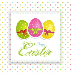 Easter egg panel vector image vector image