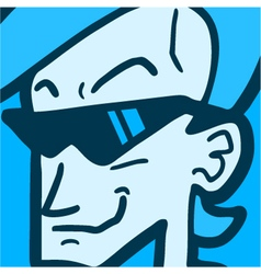 face with sunglasses vector image vector image