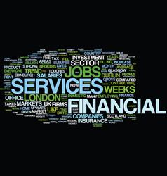 Financial services jobs markets a strong upward vector