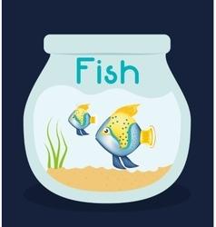Fish figure design vector