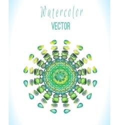 Green watercolor art vector image