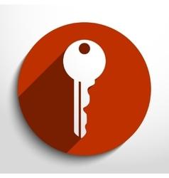 Key web icon vector
