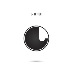 L-letter abstract logo vector