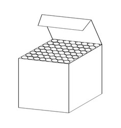 line drawing of chalk box -simple line vector image vector image