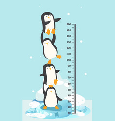 Meter wall with penguin vector