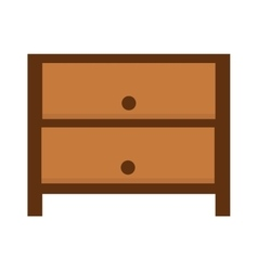 Nightstand bedside table household furniture and vector