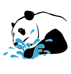 Panda-splash-pw vector