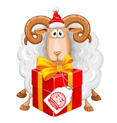 Sheep Christmas vector image vector image