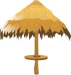Tiki umbrella vector