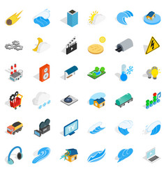 Vitality icons set isometric style vector