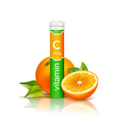 vitamin c 3d vector image vector image