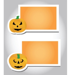 Halloween pumpkin card template vector