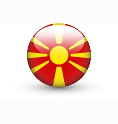 Round icon with national flag of macedonia vector