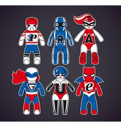 Toy superheroes vector