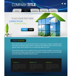 web page design vector image