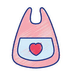 Bib baby tool that used to eat vector