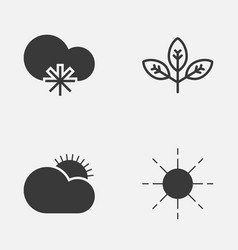 World icons set collection of sprout cold vector