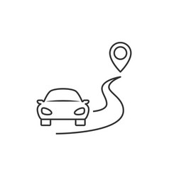 car goes to the destination vector image