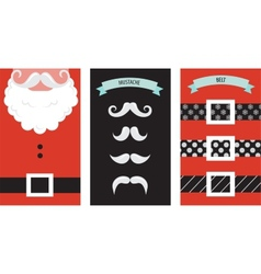 Create your own hipster santa christmas card vector
