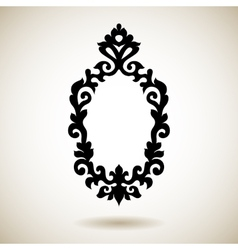 Tribal reflected black tattooed frame vector