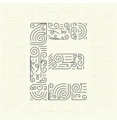 Letter e golden monogram design element vector