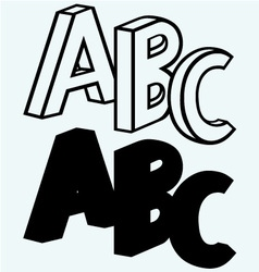 Alphabet with abc vector