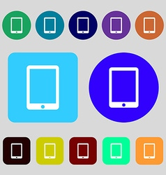 Tablet sign icon smartphone button 12 colored vector