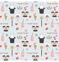 Children party seamless pattern vector